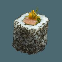 Salmon squash wasabi and seeds
