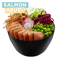 Salmon Aburi Poke Bowl