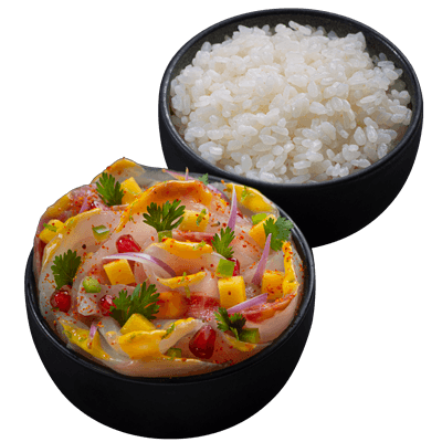 Yellowtail ceviche with mango